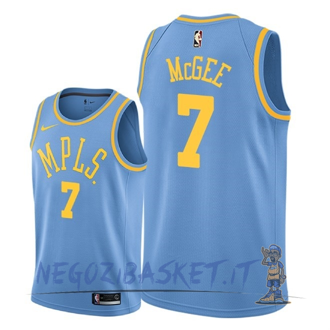 Promo Maglia NBA Nike Los Angeles Lakers NO.7 JaVale McGee Retro Blu 2018