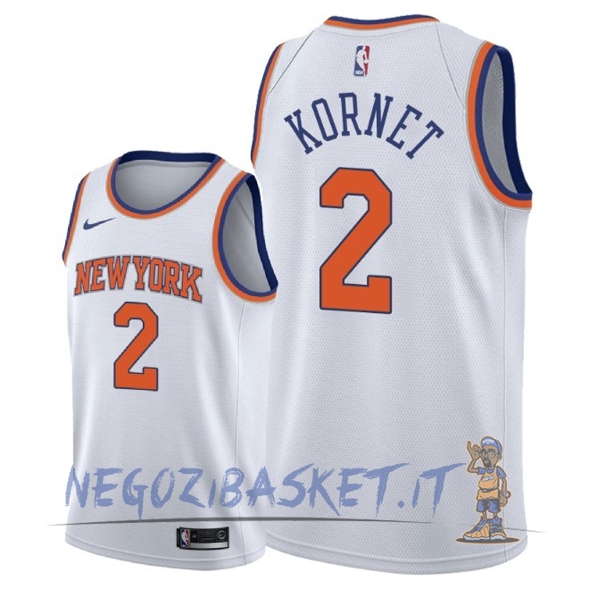 Promo Maglia NBA Nike New York Knicks NO.2 Luke Kornet Bianco Association 2018