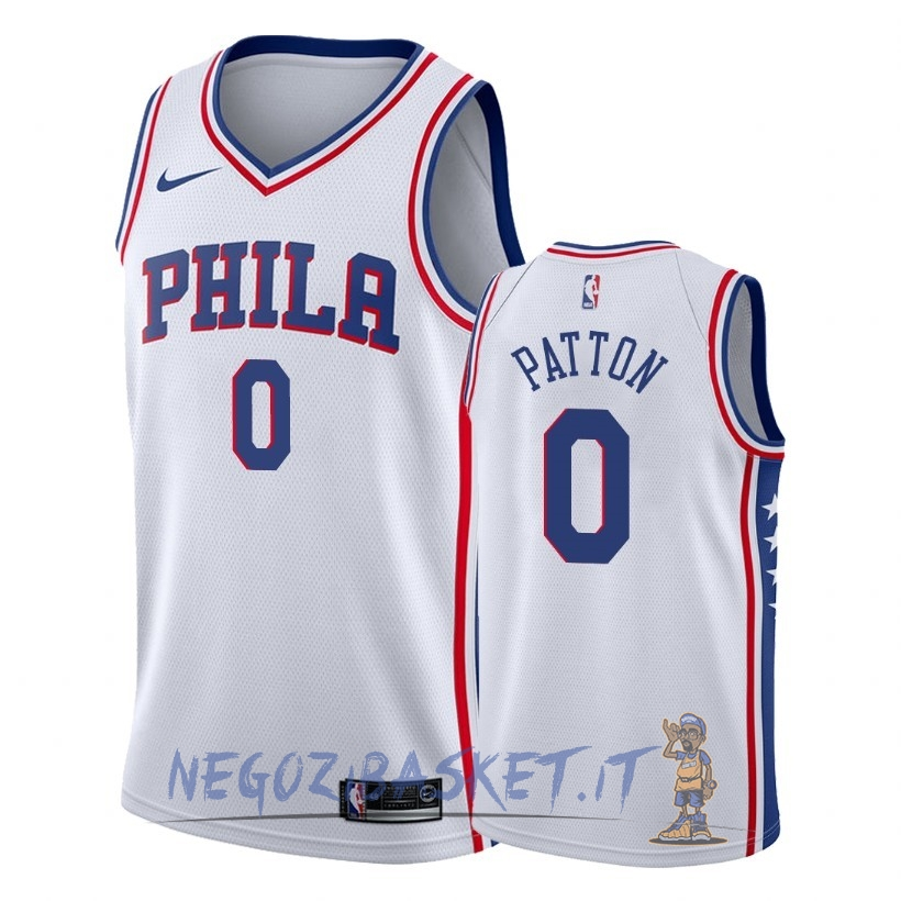 Promo Maglia NBA Nike Philadelphia Sixers NO.0 Justin Patton Bianco Association 2018