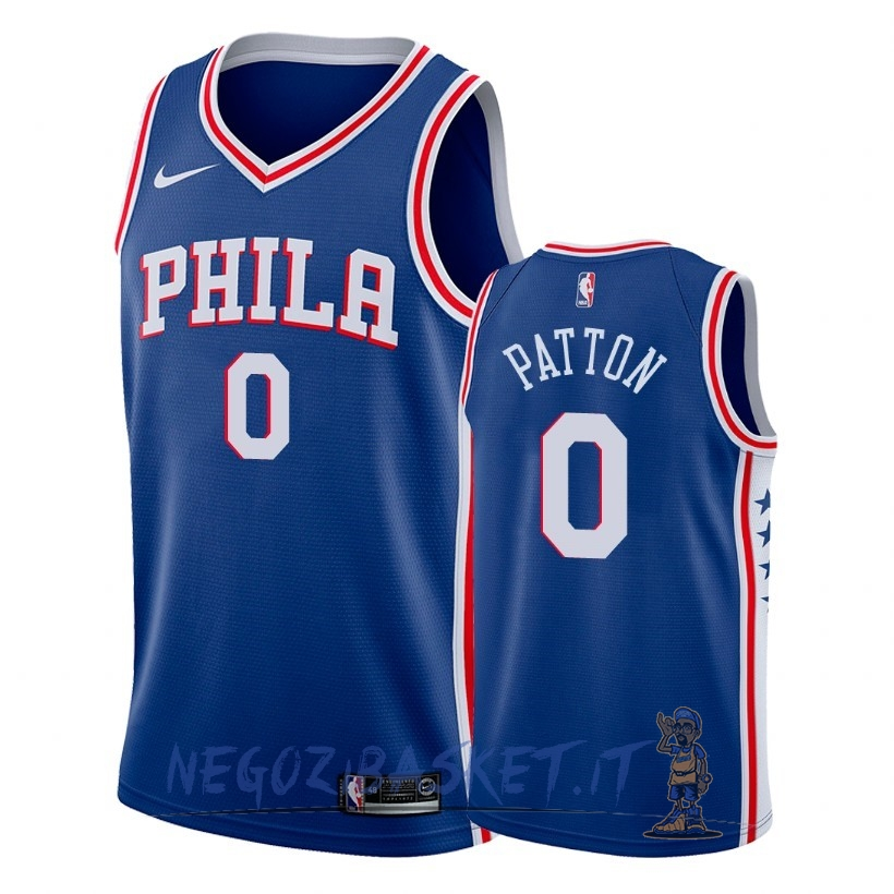 Promo Maglia NBA Nike Philadelphia Sixers NO.0 Justin Patton Blu Icon 2018