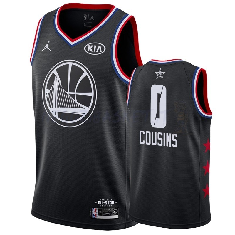 Promo Maglia NBA 2019 All Star NO.0 DeMarcus Cousins Nero