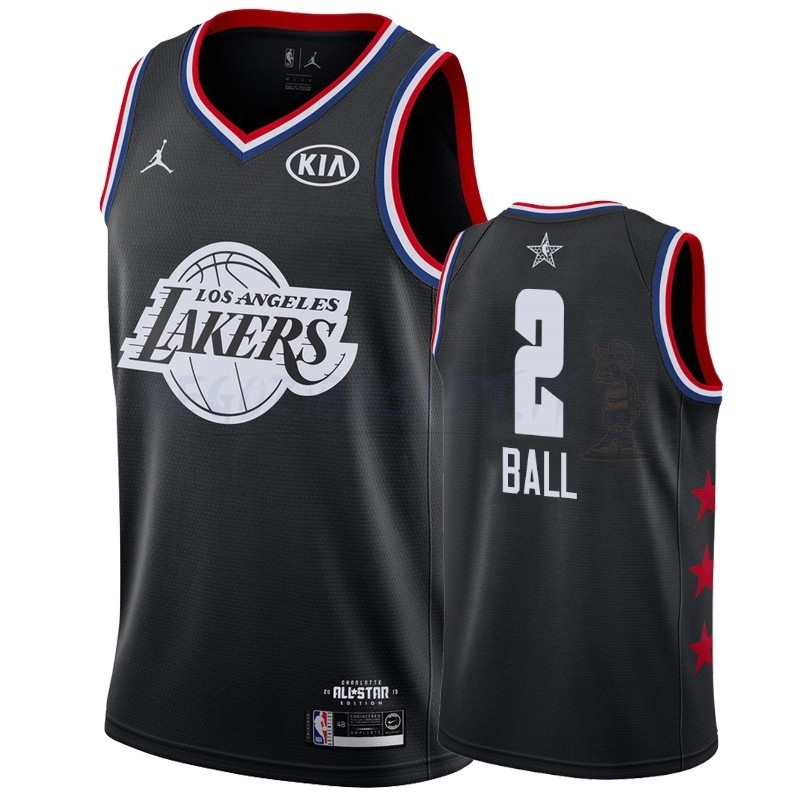 Promo Maglia NBA 2019 All Star NO.2 Lonzo Ball Nero