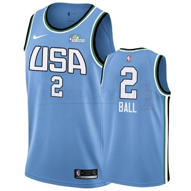 Promo Maglia NBA 2019 Rising Star NO.2 Lonzo Ball Blu