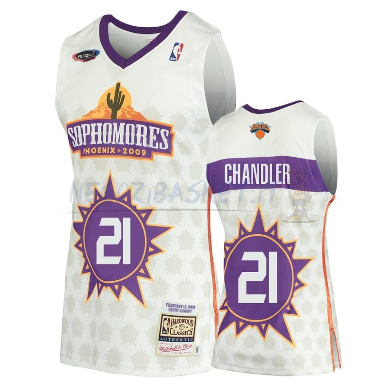 Promo Maglia NBA New York Knicks NO.21 Wilson Chandler Bianco Hardwood Classics 2009