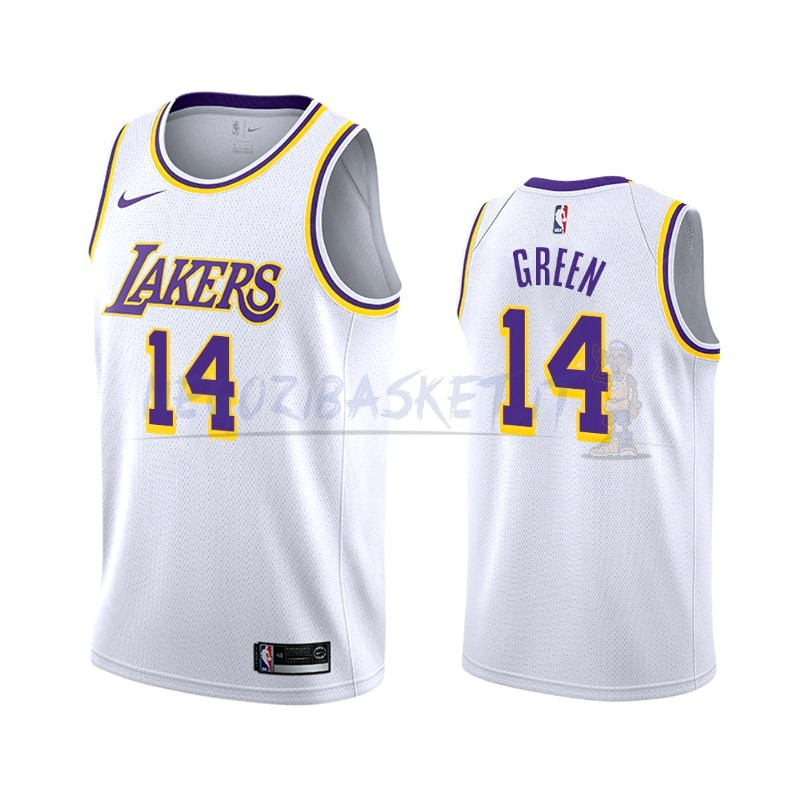 Promo Maglia NBA Nike Los Angeles Lakers NO.14 Danny Green Bianco Association 2019-20