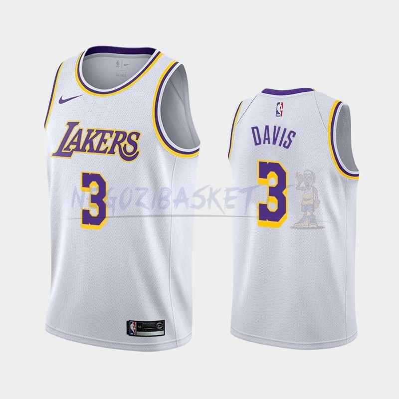 Promo Maglia NBA Nike Los Angeles Lakers NO.3 Anthony Davis Bianco Association 2019-20