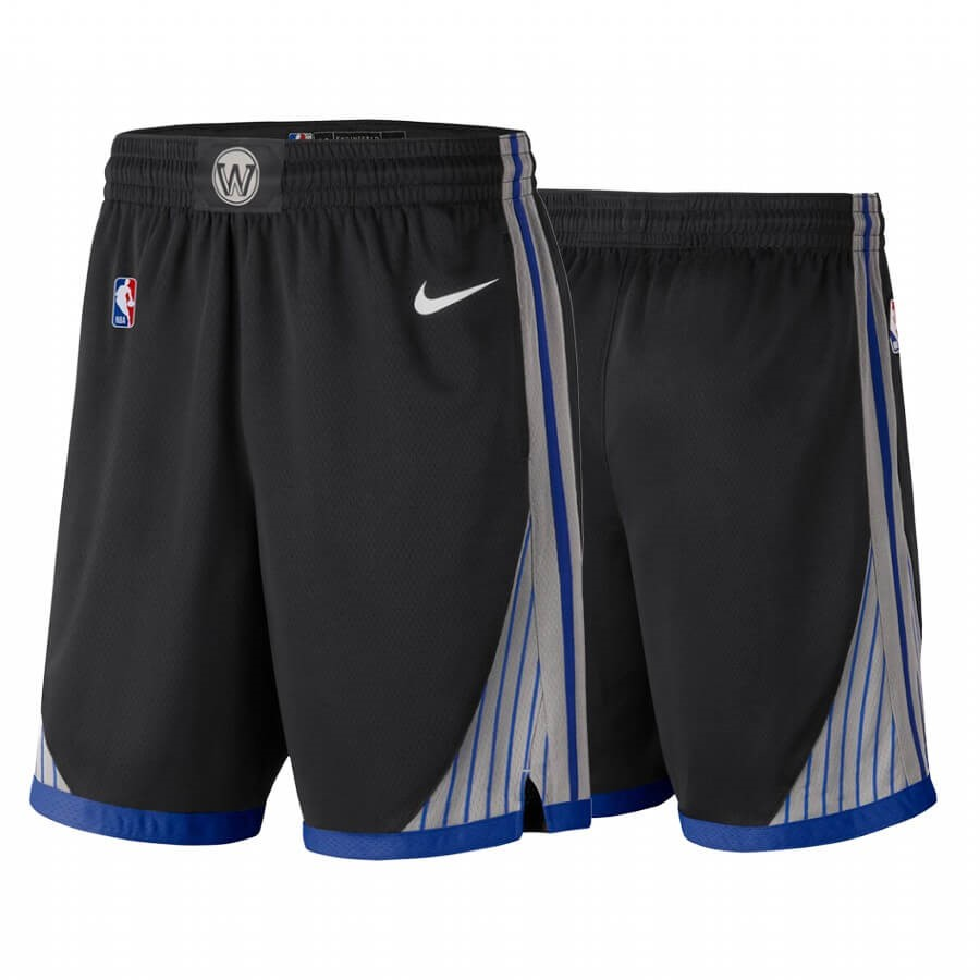 Promo Pantaloni Basket Golden State Warriors Nike Nero Città 2019-20