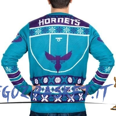 Promo Maglione Ugly Unisex Charlotte Hornets Blu