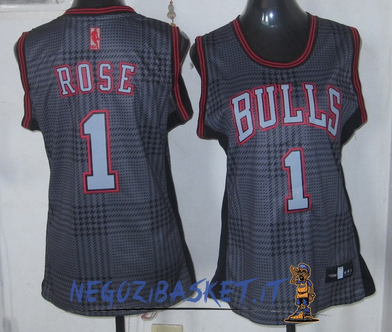 Promo Maglia NBA Donna 2013 Fashion Statico NO.1 Derrick Rose