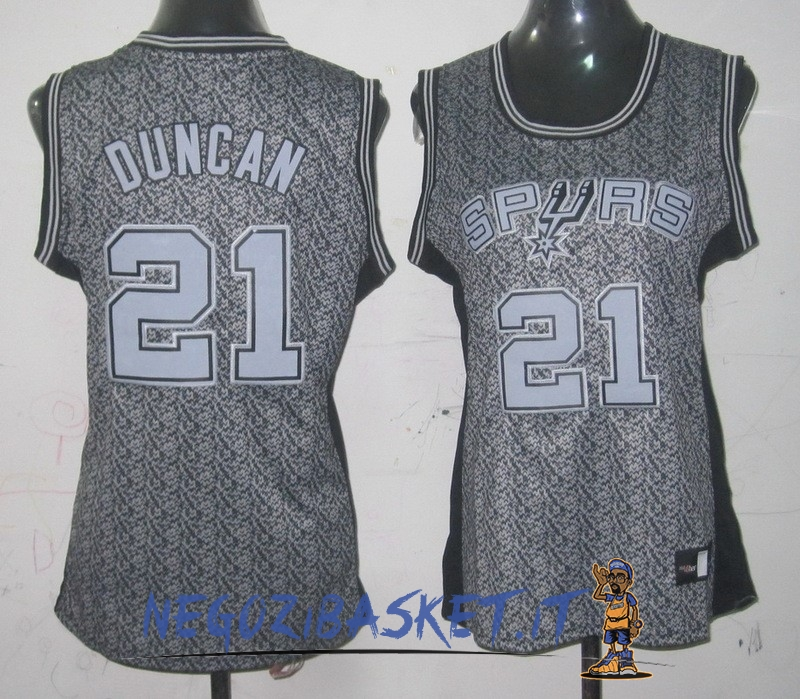Promo Maglia NBA Donna 2013 Fashion Statico NO.21 Tim Duncan