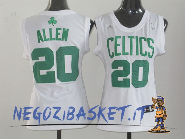 Promo Maglia NBA Donna Boston Celtics NO.20 Ray Allen Bianco