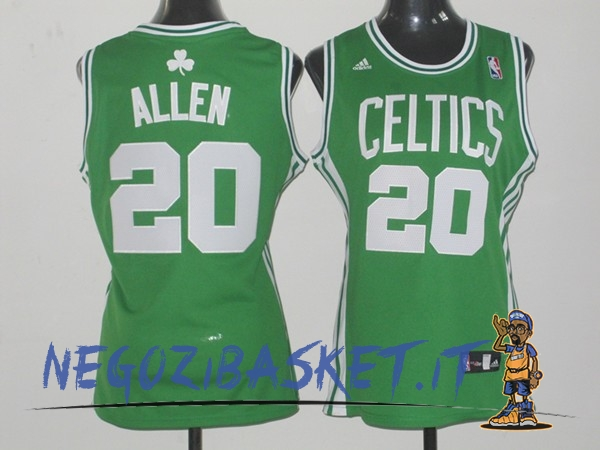 Promo Maglia NBA Donna Boston Celtics NO.20 Ray Allen Verde