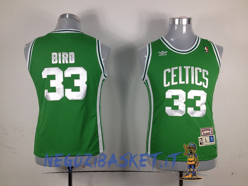 Promo Maglia NBA Donna Boston Celtics NO.33 Larry Joe Bird Verde