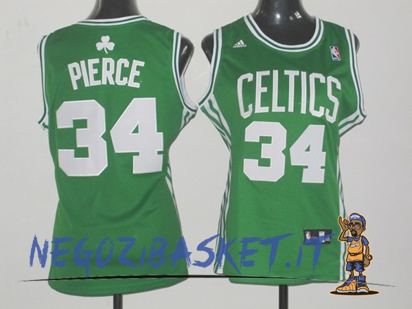 Promo Maglia NBA Donna Boston Celtics NO.34 Paul Pierce Verde