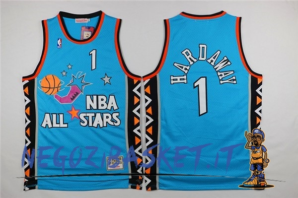 Promo Maglia NBA 1996 All Star NO.1 Anfernee Hardaway Blu