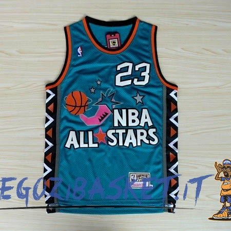 Promo Maglia NBA 1996 All Star NO.23 Michael Jordan Blu