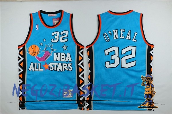 Promo Maglia NBA 1996 All Star NO.32 Shaquille O'Neal Blu