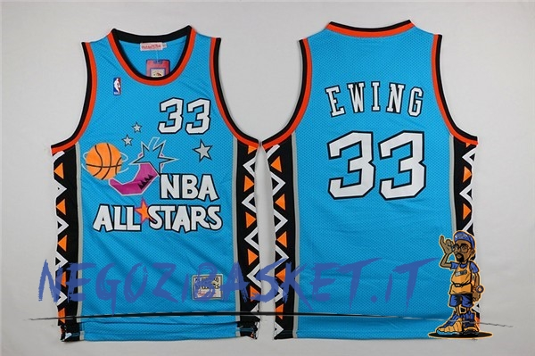 Promo Maglia NBA 1996 All Star NO.33 Patrick Ewing Blu