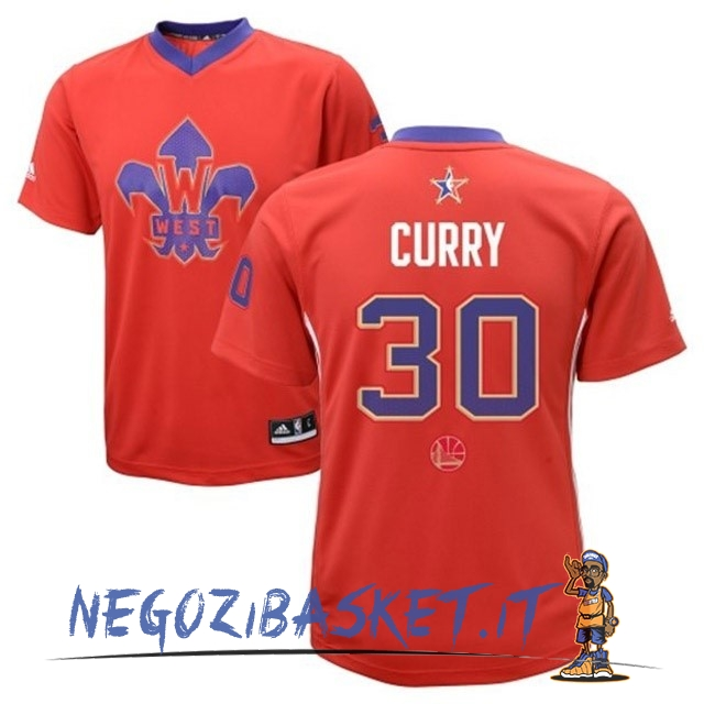 Promo Maglia NBA 2014 All Star NO.30 Stephen Curry Rosso