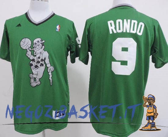 Promo Maglia NBA Boston Celtics 2013 Natale NO.9 Rondo Veder