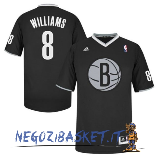 Promo Maglia NBA Brooklyn Nets 2013 Natale NO.8 Williams Nero