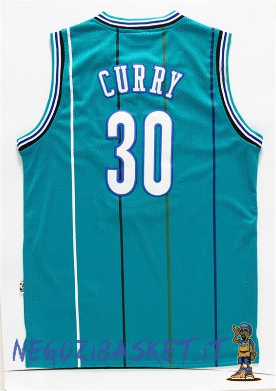 Promo Maglia NBA Charlotte Hornets NO.30 Wardell Stephen Curry Verde
