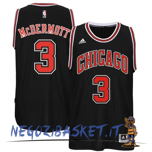 Promo Maglia NBA Chicago Bulls NO.3 Doug McDermott Nero