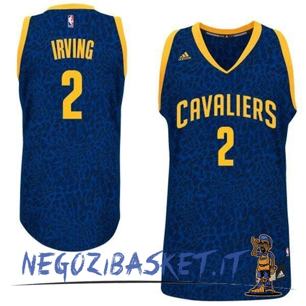 Promo Maglia NBA Cleveland Cavaliers Luce Leopard NO.2 Irving Blu