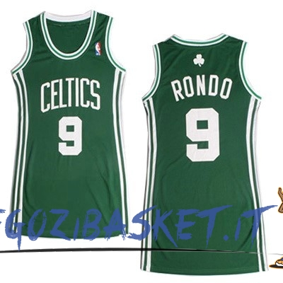 Promo Maglia NBA Donna Boston Celtics NO.9 Rajon Rondo Verde