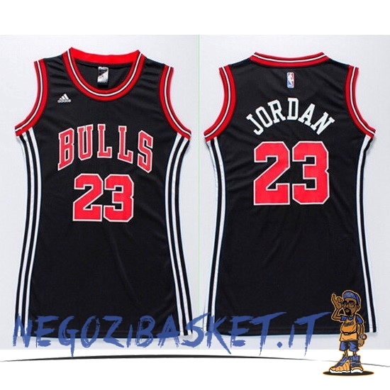 Promo Maglia NBA Donna Chicago Bulls NO.23 Michael Jordan Nero