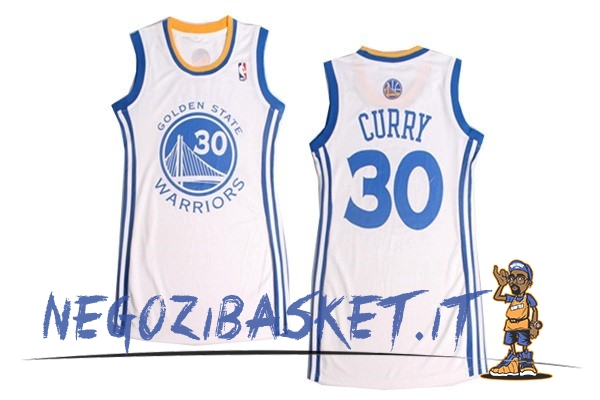 Promo Maglia NBA Donna Golden State Warriors NO.30 Stephen Curry Bianco