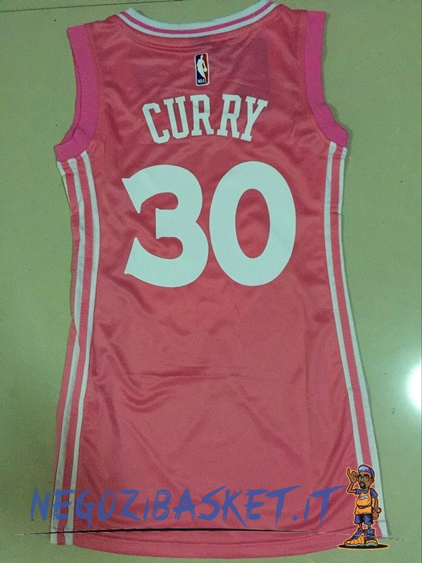 Promo Maglia NBA Donna Golden State Warriors NO.30 Stephen Curry Rose