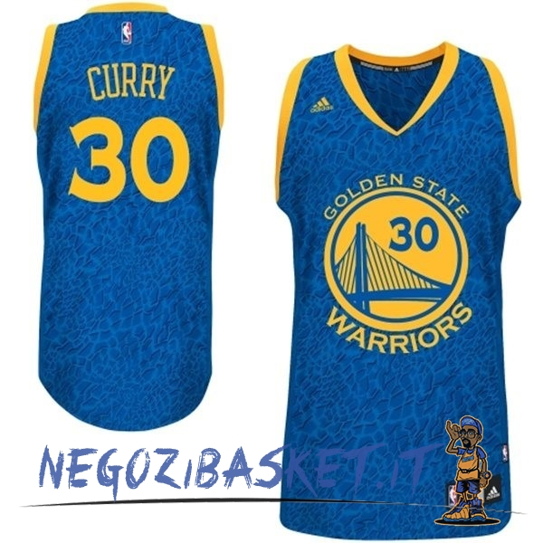 Promo Maglia NBA Golden State Warriors Luce Leopard NO.30 Curry Blu