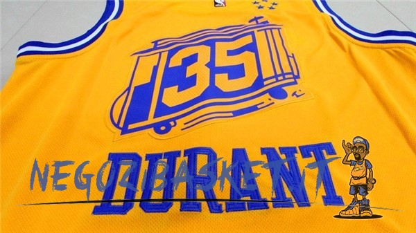 b85755538e52 ... Promo Maglia NBA Golden State Warriors NO.35 Kevin Durant City Giallo  ...