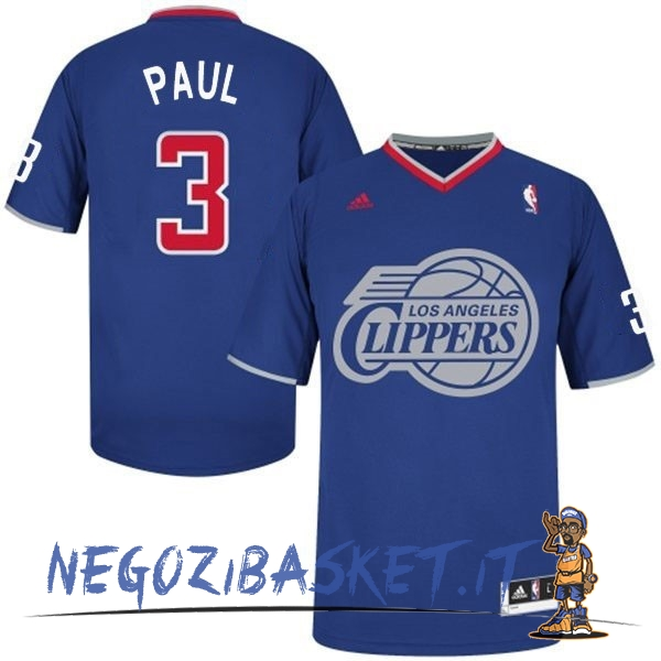 Promo Maglia NBA Los Angeles Clippers 2013 Natale NO.3 Paul Blu