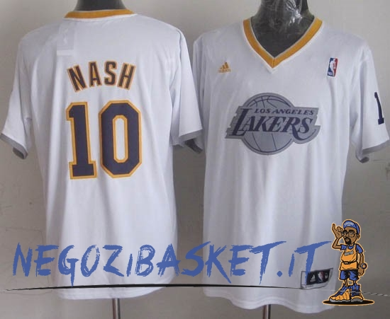 Promo Maglia NBA Los Angeles Lakers 2013 Natale NO.10 Nash Bianco