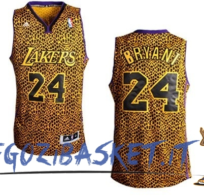Promo Maglia NBA Los Angeles Lakers Luce Leopard NO.24 Bryant Dorado