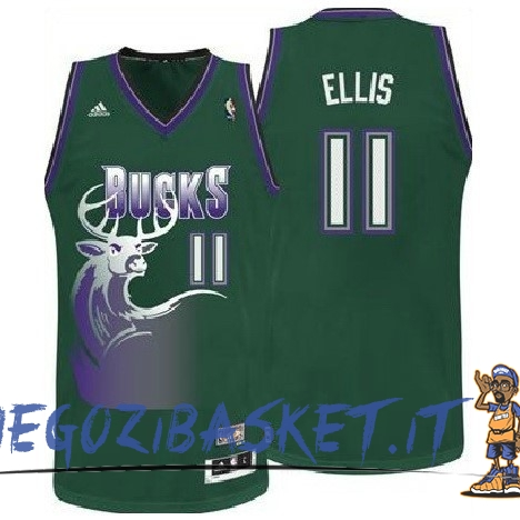 Promo Maglia NBA Milwaukee Bucks NO.11 Monta Ellis Verde
