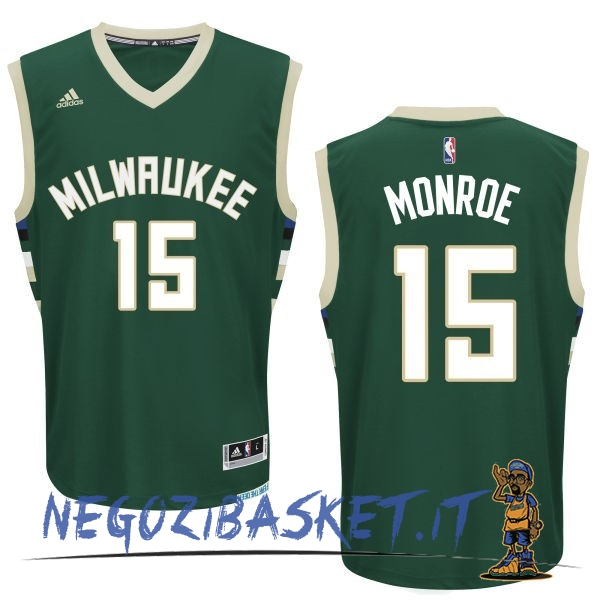 Promo Maglia NBA Milwaukee Bucks NO.15 Greg Monroe Verde