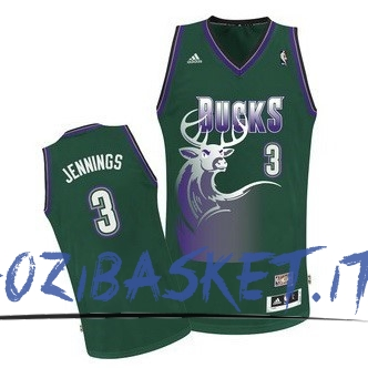 Promo Maglia NBA Milwaukee Bucks NO.3 Brandon Jennings Verde