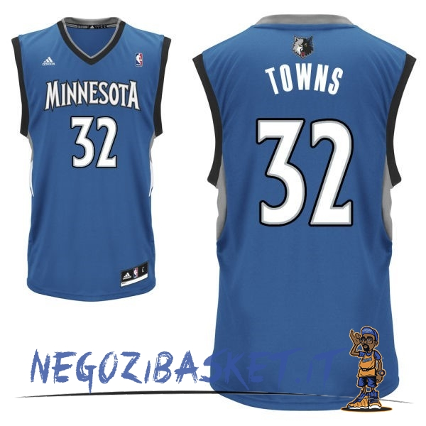 Promo Maglia NBA Minnesota Timberwolves NO.32 Karl Anthony Towns Blu