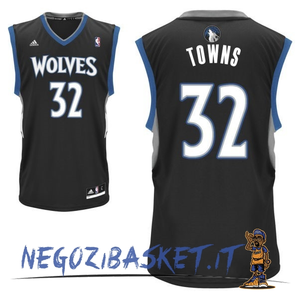 Promo Maglia NBA Minnesota Timberwolves NO.32 Karl Anthony Towns Nero