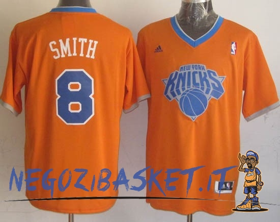 Promo Maglia NBA New York Knicks 2013 Natale NO.8 Smith Arancia