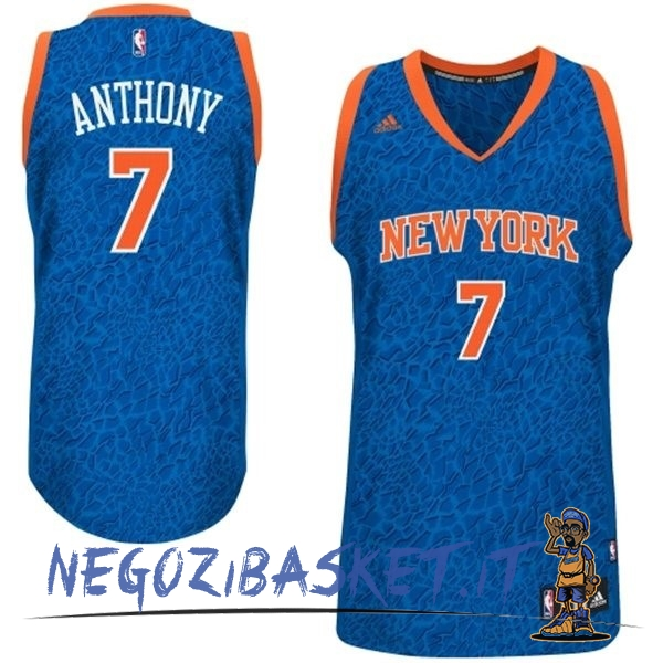 Promo Maglia NBA New York Knicks Luce Leopard NO.7 Anthony Blu