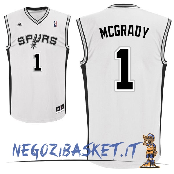 Promo Maglia NBA San Antonio Spurs NO.1 Tracy McGrady Bianco