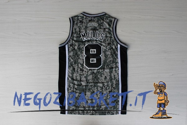 Promo Maglia NBA San Antonio Spurs NO.8 Patty Mills Verde