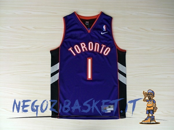 Promo Maglia NBA Toronto Raptors NO.1 Tracy McGrady Blu