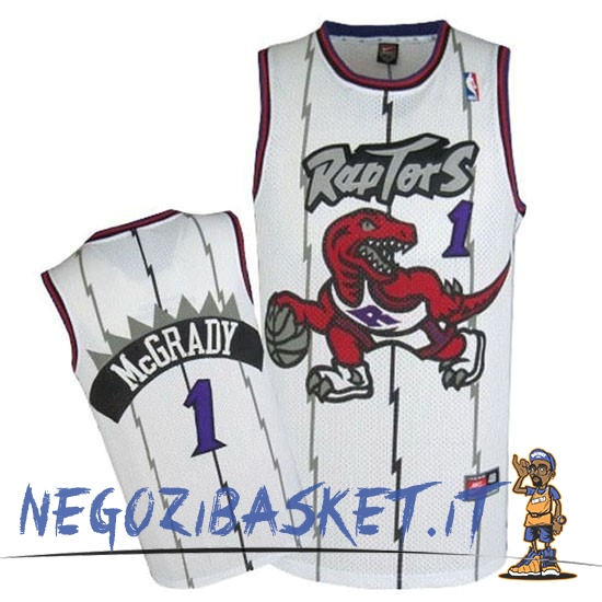 Promo Maglia NBA Toronto Raptors NO.1 Tracy McGrady Retro Blu