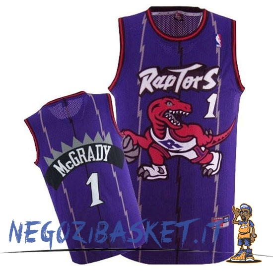 Promo Maglia NBA Toronto Raptors NO.1 Tracy McGrady Retro Porpora