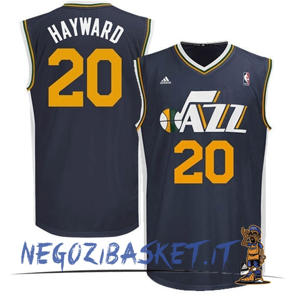Promo Maglia NBA Utah Jazz NO.20 Gordon Hayward Blu